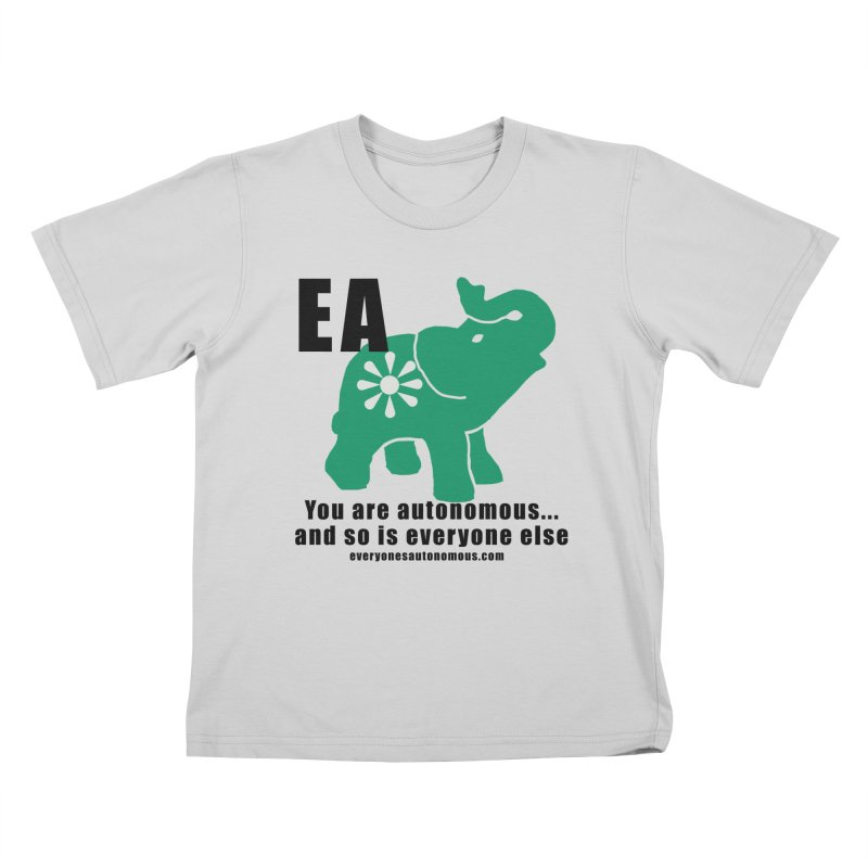 EA, Quote & WWW Kids T-Shirt by everyonesautonomous's Artist Shop