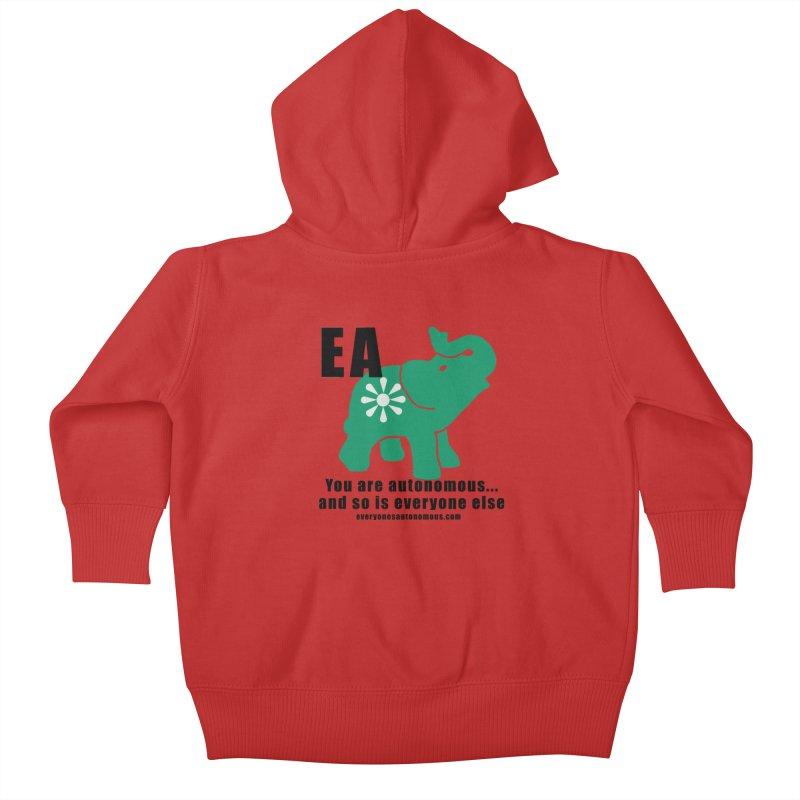 EA, Quote & WWW Kids Baby Zip-Up Hoody by everyonesautonomous's Artist Shop