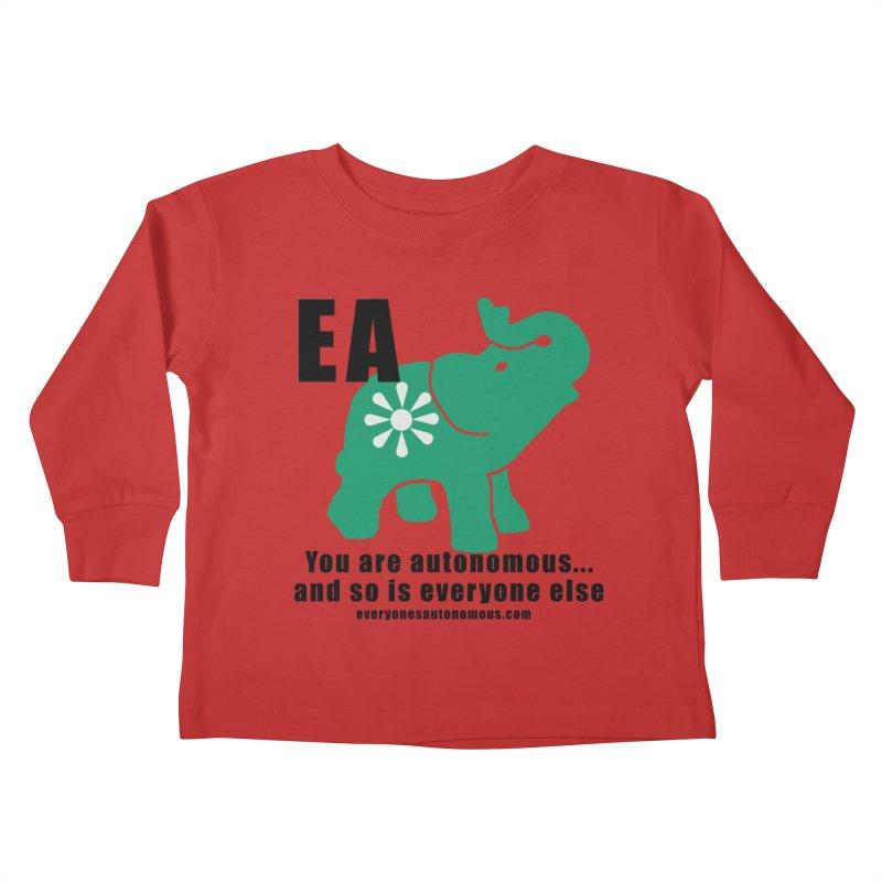 EA, Quote & WWW Kids Toddler Longsleeve T-Shirt by everyonesautonomous's Artist Shop