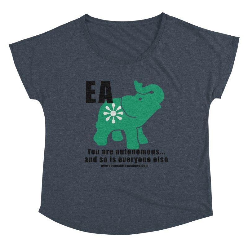 EA, Quote & WWW Women's Dolman Scoop Neck by everyonesautonomous's Artist Shop