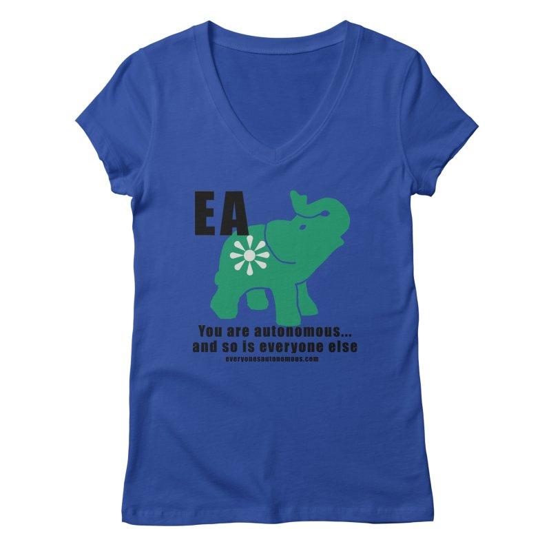 EA, Quote & WWW Women's Regular V-Neck by everyonesautonomous's Artist Shop