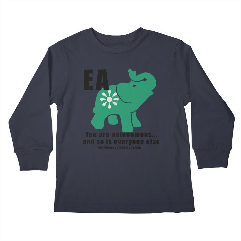 EA, Quote & WWW Kids Longsleeve T-Shirt by everyonesautonomous's Artist Shop