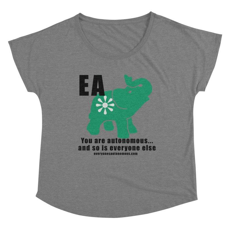 EA, Quote & WWW Women's Scoop Neck by everyonesautonomous's Artist Shop