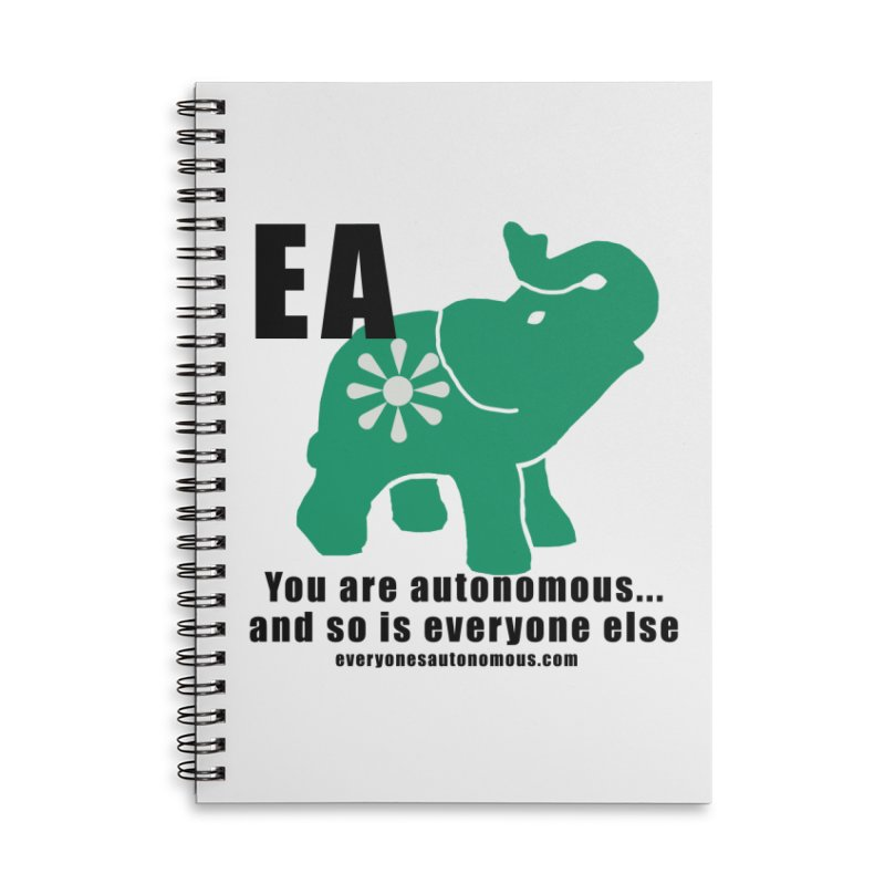 EA, Quote & WWW Accessories Lined Spiral Notebook by everyonesautonomous's Artist Shop
