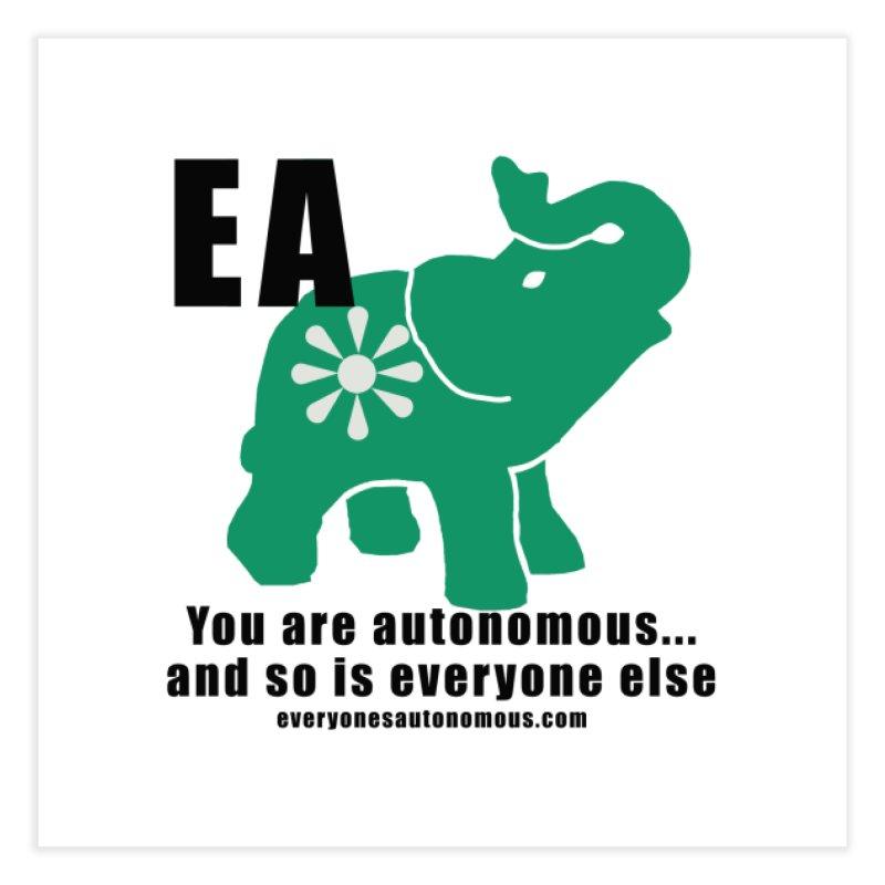 EA, Quote & WWW Home Fine Art Print by everyonesautonomous's Artist Shop