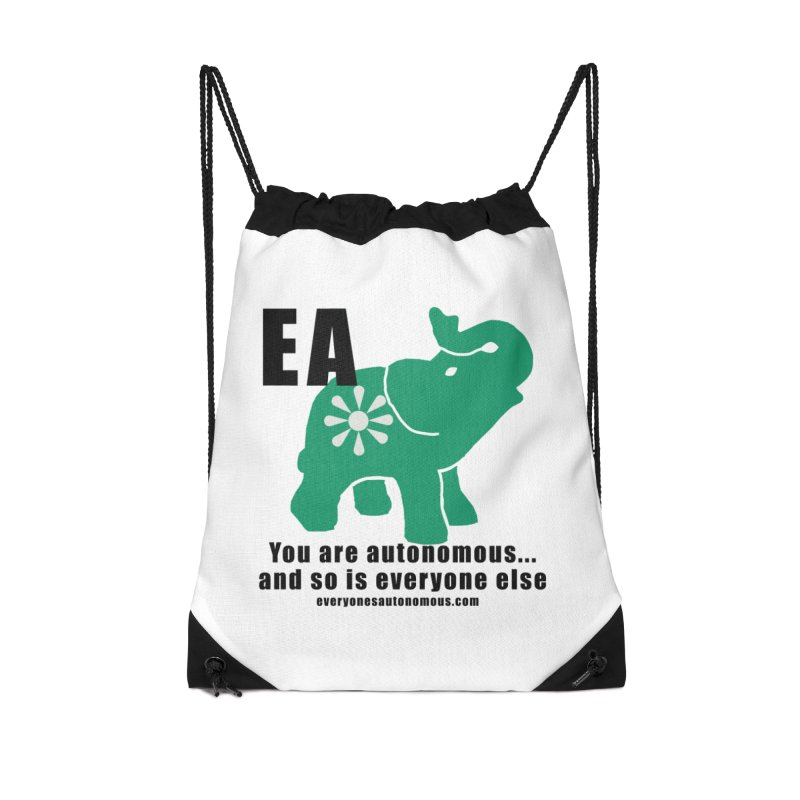 EA, Quote & WWW Accessories Drawstring Bag Bag by everyonesautonomous's Artist Shop