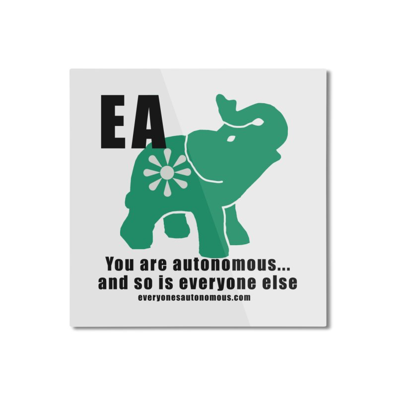 EA, Quote & WWW Home Mounted Aluminum Print by everyonesautonomous's Artist Shop