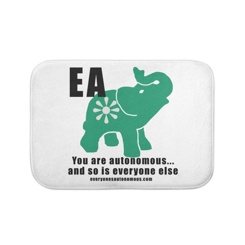 EA, Quote & WWW Home Bath Mat by everyonesautonomous's Artist Shop
