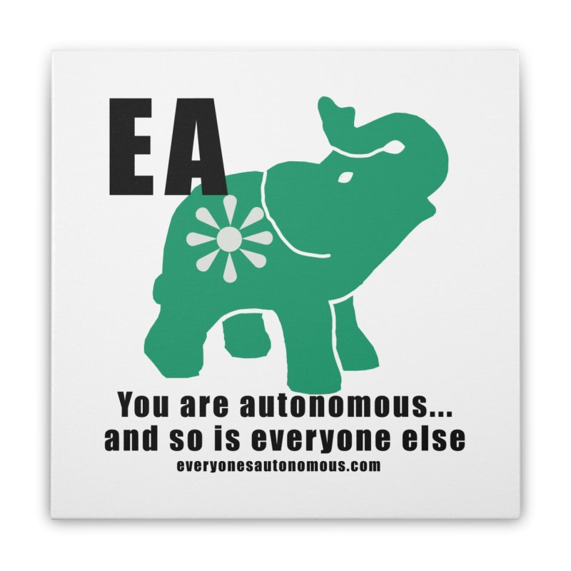 EA, Quote & WWW Home Stretched Canvas by everyonesautonomous's Artist Shop
