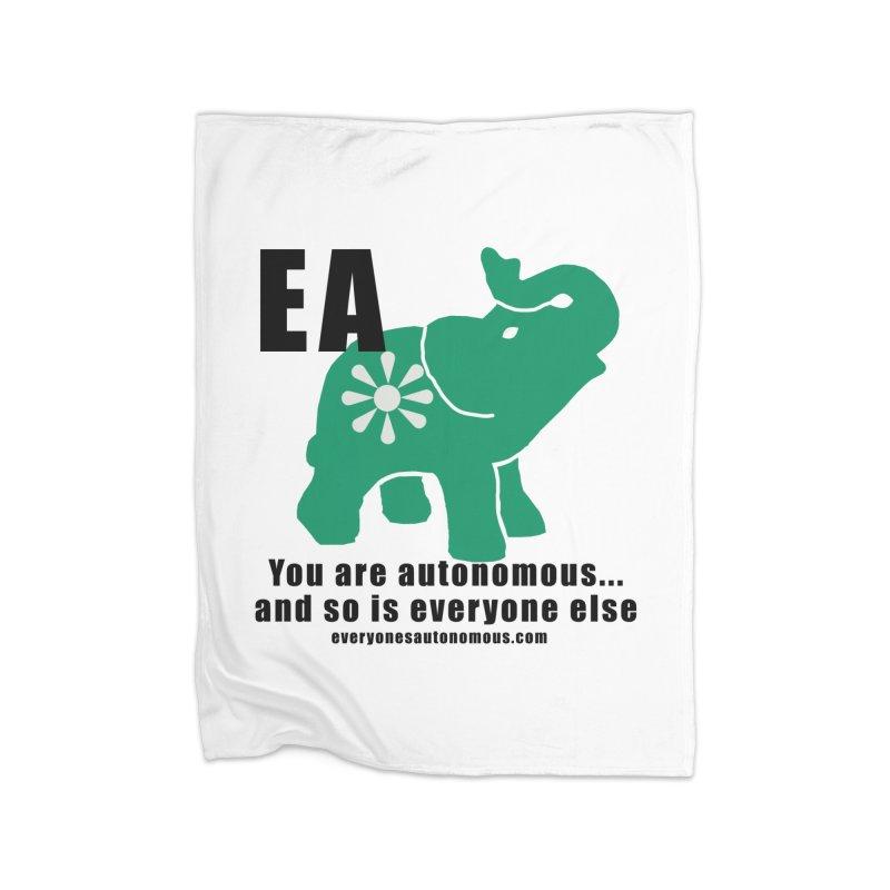 EA, Quote & WWW Home Fleece Blanket Blanket by everyonesautonomous's Artist Shop