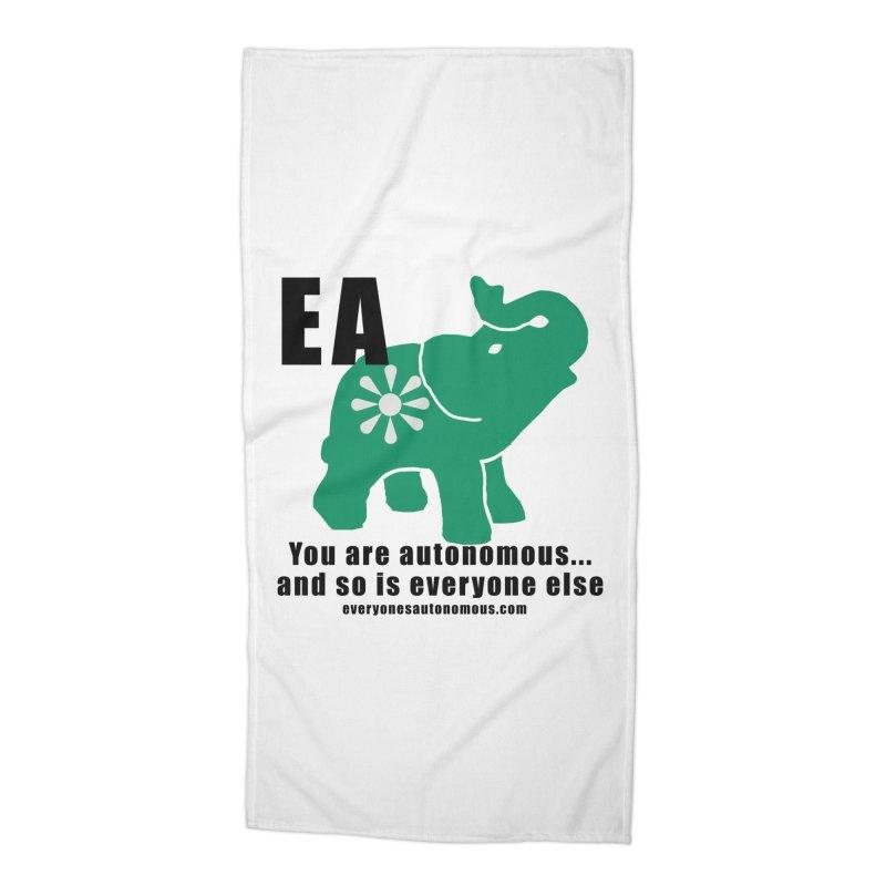 EA, Quote & WWW Accessories Beach Towel by Everyone's Autonomous' Artist Shop