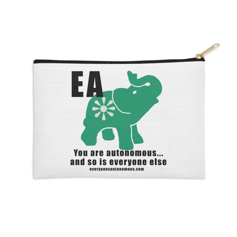 EA, Quote & WWW Accessories Zip Pouch by everyonesautonomous's Artist Shop