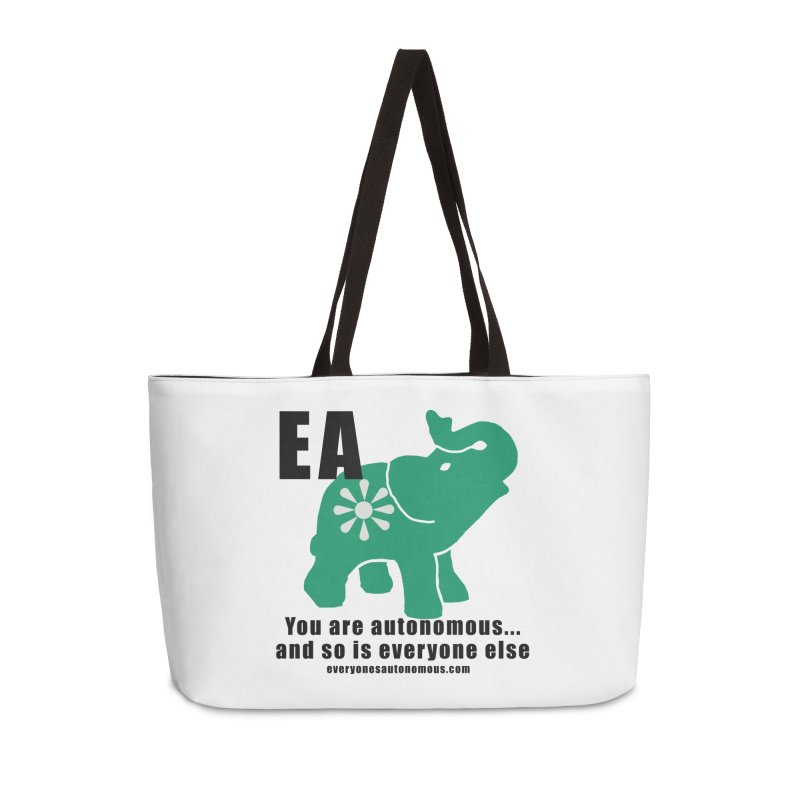 EA, Quote & WWW Accessories Weekender Bag Bag by everyonesautonomous's Artist Shop
