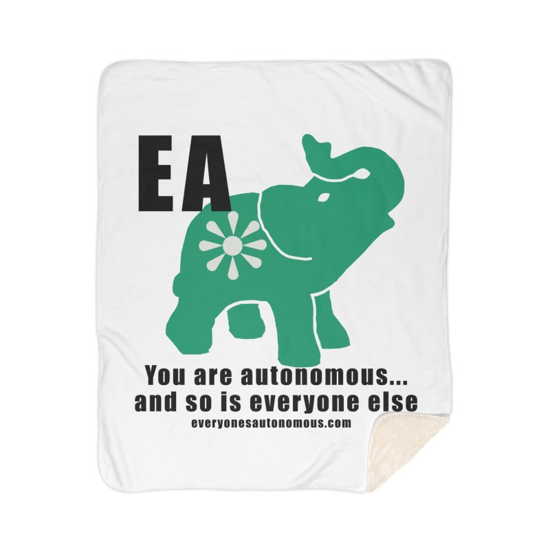 EA, Quote & WWW Home Sherpa Blanket Blanket by everyonesautonomous's Artist Shop