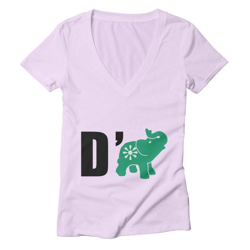 D'Elephant Women's Deep V-Neck V-Neck by everyonesautonomous's Artist Shop