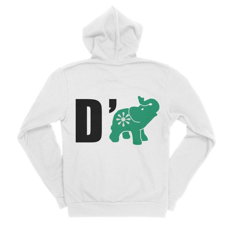 D'Elephant Women's Sponge Fleece Zip-Up Hoody by everyonesautonomous's Artist Shop