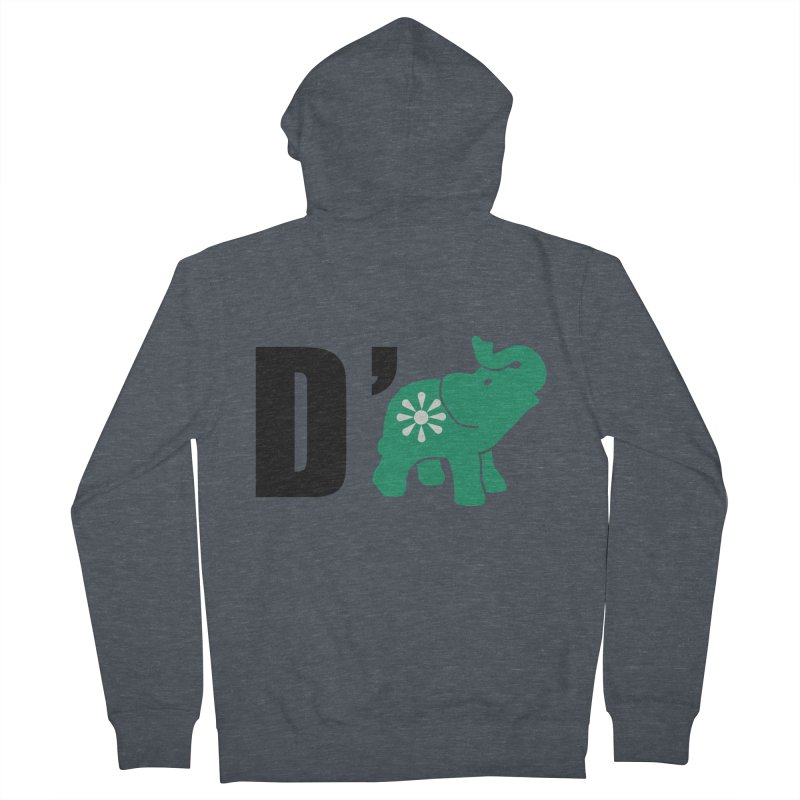 D'Elephant Men's French Terry Zip-Up Hoody by everyonesautonomous's Artist Shop