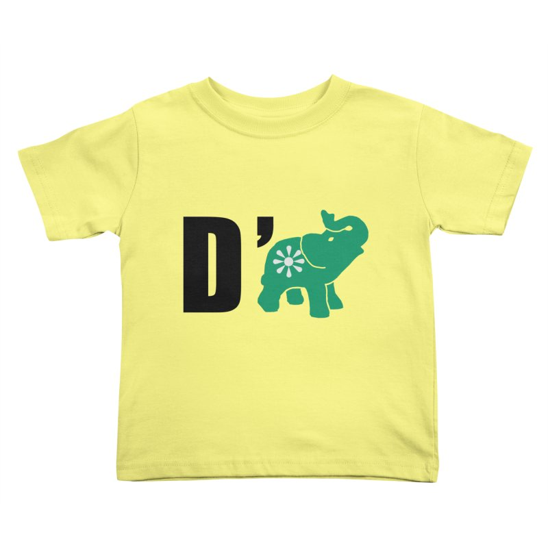 D'Elephant Kids Toddler T-Shirt by everyonesautonomous's Artist Shop