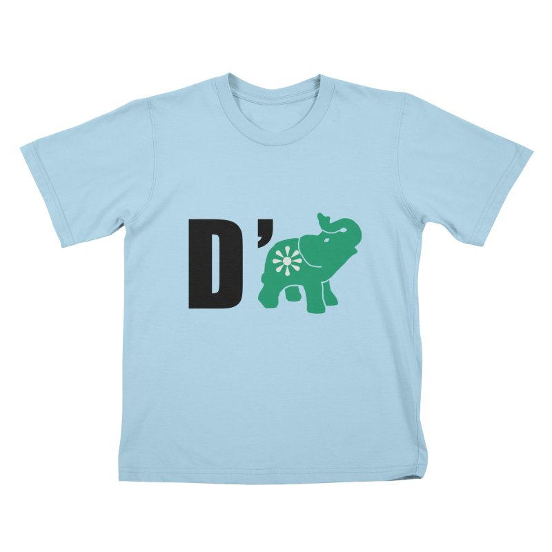 D'Elephant Kids T-Shirt by everyonesautonomous's Artist Shop