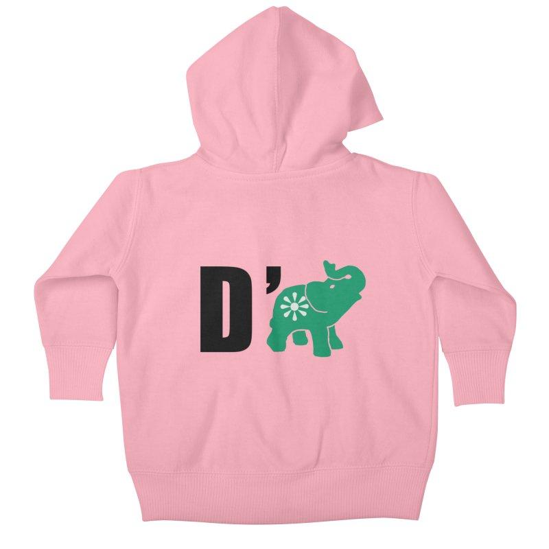 D'Elephant Kids Baby Zip-Up Hoody by Everyone's Autonomous' Artist Shop