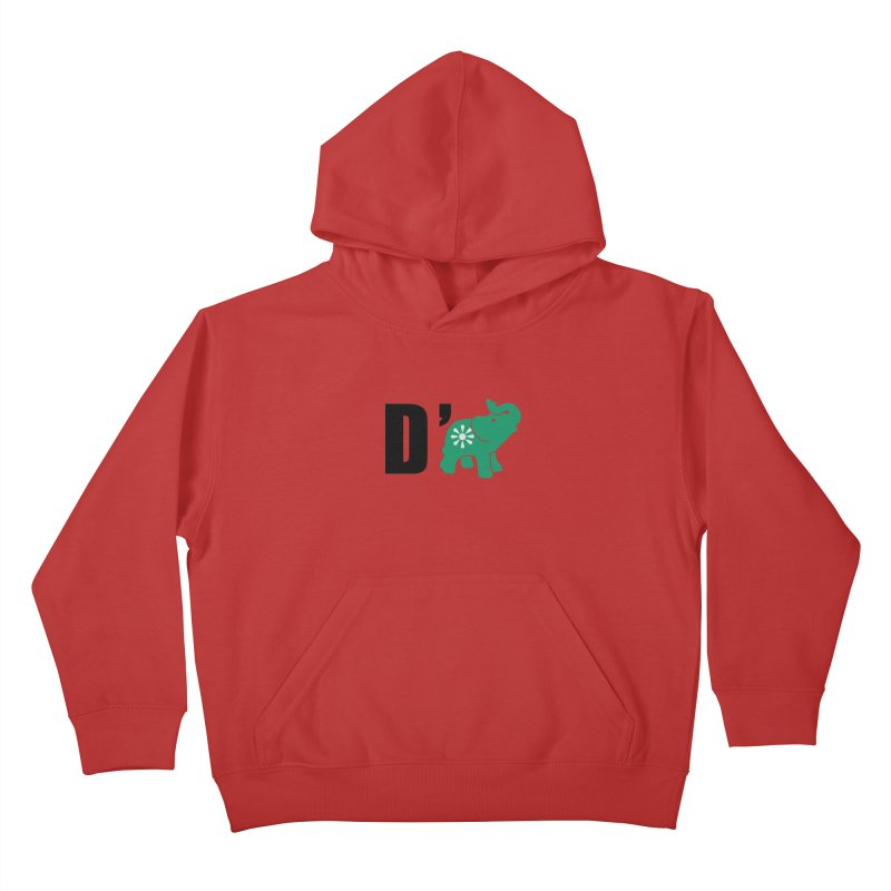 D'Elephant Kids Pullover Hoody by everyonesautonomous's Artist Shop