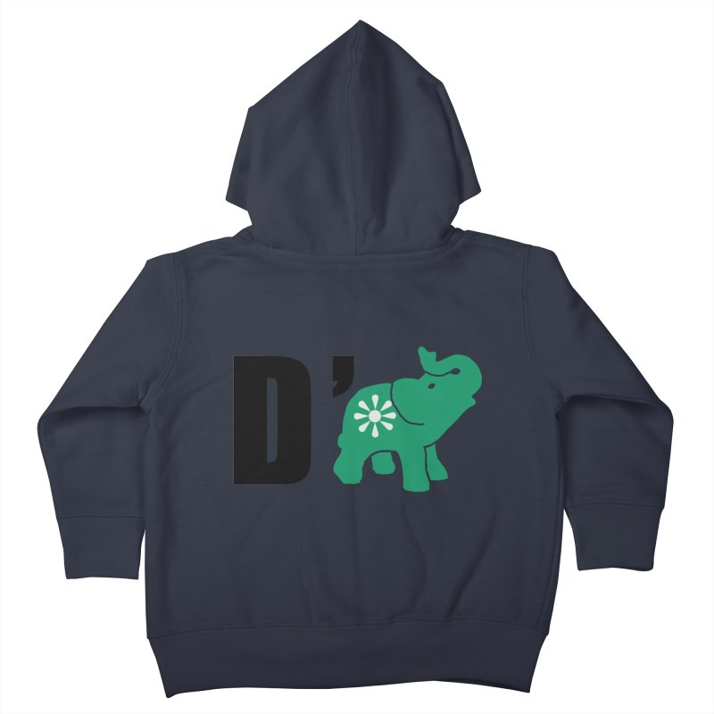 D'Elephant Kids Toddler Zip-Up Hoody by everyonesautonomous's Artist Shop