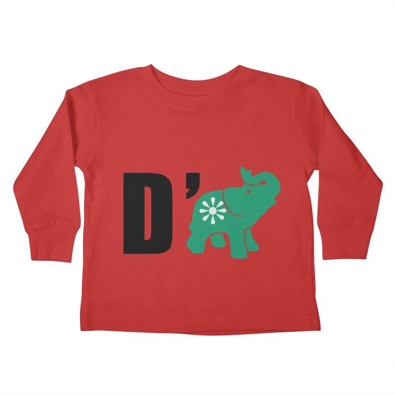 D'Elephant Kids Toddler Longsleeve T-Shirt by everyonesautonomous's Artist Shop