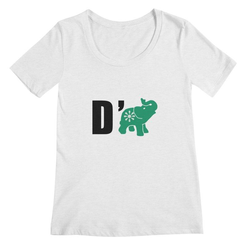 D'Elephant Women's Regular Scoop Neck by everyonesautonomous's Artist Shop