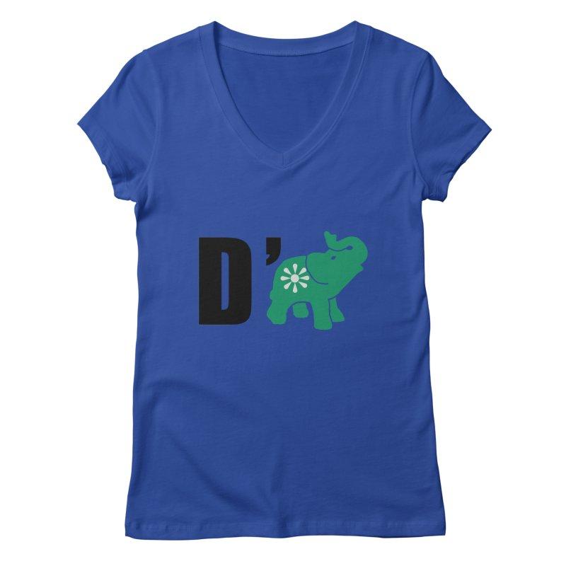 D'Elephant Women's Regular V-Neck by everyonesautonomous's Artist Shop