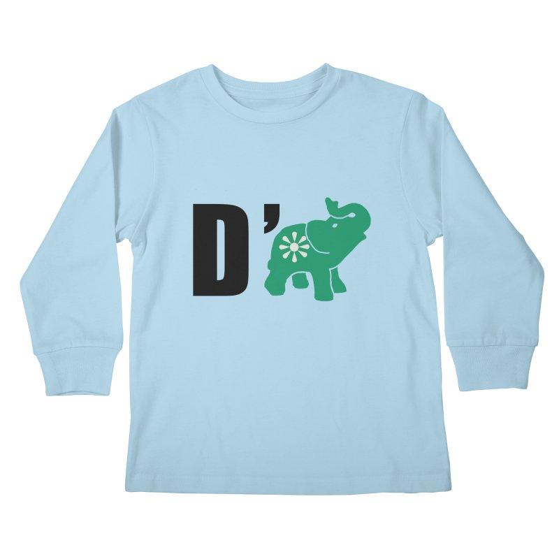 D'Elephant Kids Longsleeve T-Shirt by everyonesautonomous's Artist Shop