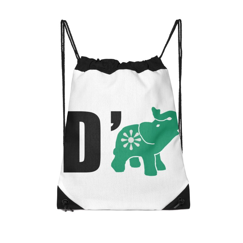 D'Elephant Accessories Drawstring Bag Bag by everyonesautonomous's Artist Shop