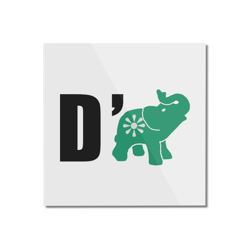 D'Elephant Home Mounted Acrylic Print by everyonesautonomous's Artist Shop