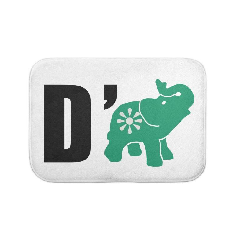D'Elephant Home Bath Mat by Everyone's Autonomous' Artist Shop