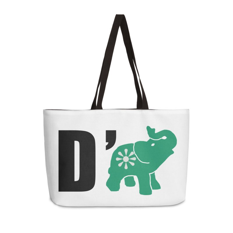 D'Elephant Accessories Weekender Bag Bag by everyonesautonomous's Artist Shop