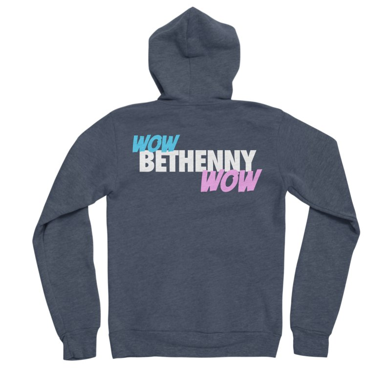 WOW Bethenny WOW Men's Sponge Fleece Zip-Up Hoody by everythingiconic's Artist Shop