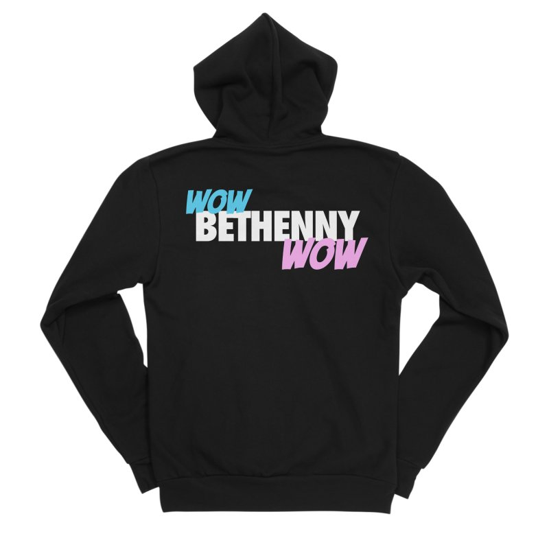 WOW Bethenny WOW Women's Sponge Fleece Zip-Up Hoody by everythingiconic's Artist Shop
