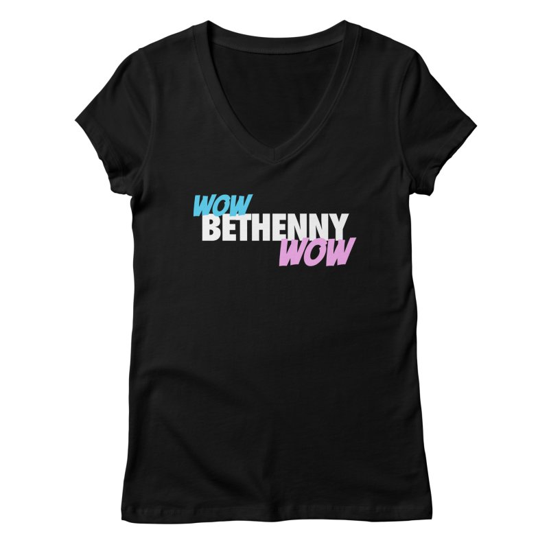WOW Bethenny WOW Women's V-Neck by everythingiconic's Artist Shop