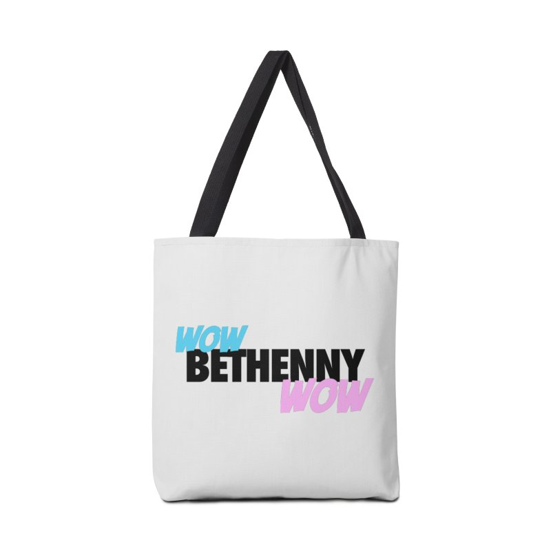 Wow Bethenny WOW (dark on light) Accessories Tote Bag Bag by everythingiconic's Artist Shop