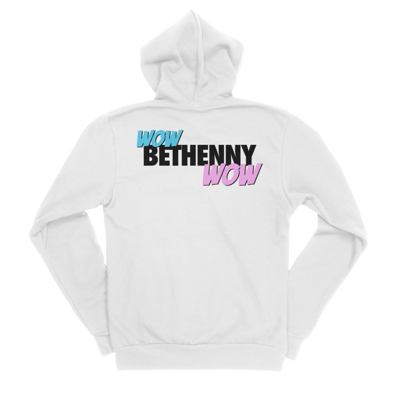 Wow Bethenny WOW (dark on light) Men's Sponge Fleece Zip-Up Hoody by everythingiconic's Artist Shop