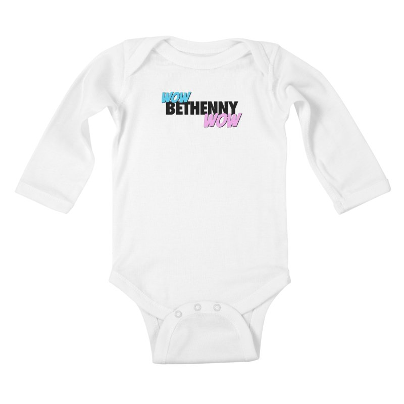 Wow Bethenny WOW (dark on light) Kids Baby Longsleeve Bodysuit by everythingiconic's Artist Shop