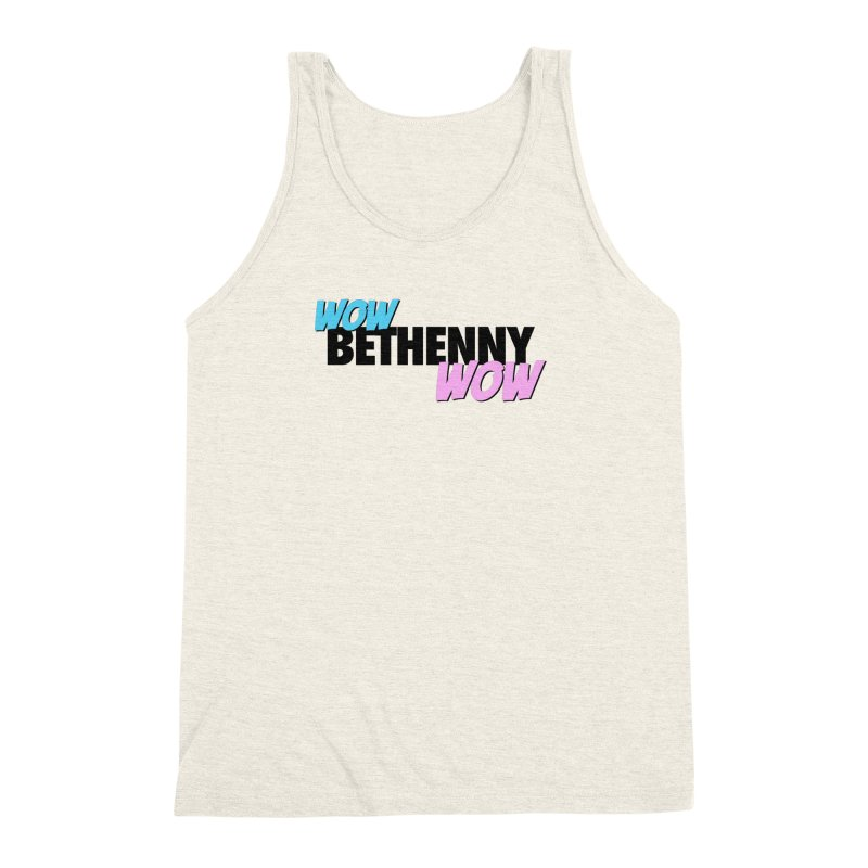 Wow Bethenny WOW (dark on light) Men's Triblend Tank by everythingiconic's Artist Shop