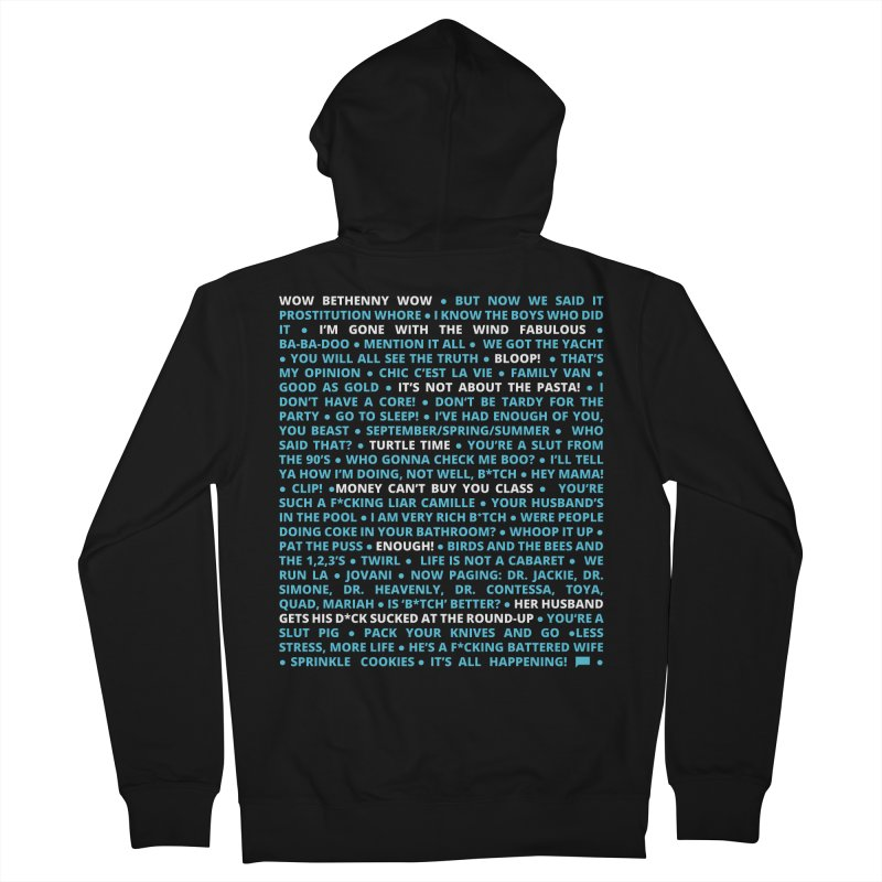 Iconic Bravo Quotes - Bravo-con: Limited Edition (on black) Men's French Terry Zip-Up Hoody by everythingiconic's Artist Shop