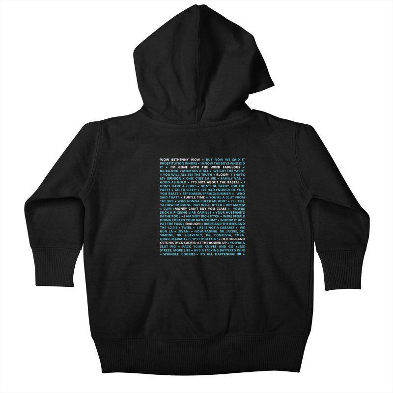 Iconic Bravo Quotes - Bravo-con: Limited Edition (on black) Kids Baby Zip-Up Hoody by everythingiconic's Artist Shop