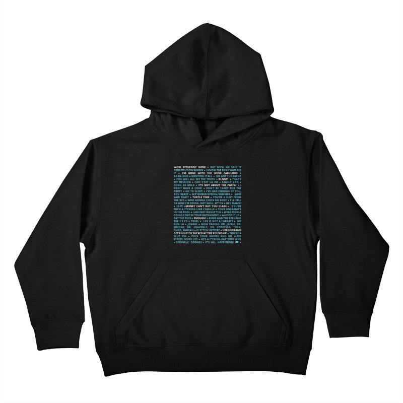 Iconic Bravo Quotes - Bravo-con: Limited Edition (on black) Kids Pullover Hoody by everythingiconic's Artist Shop