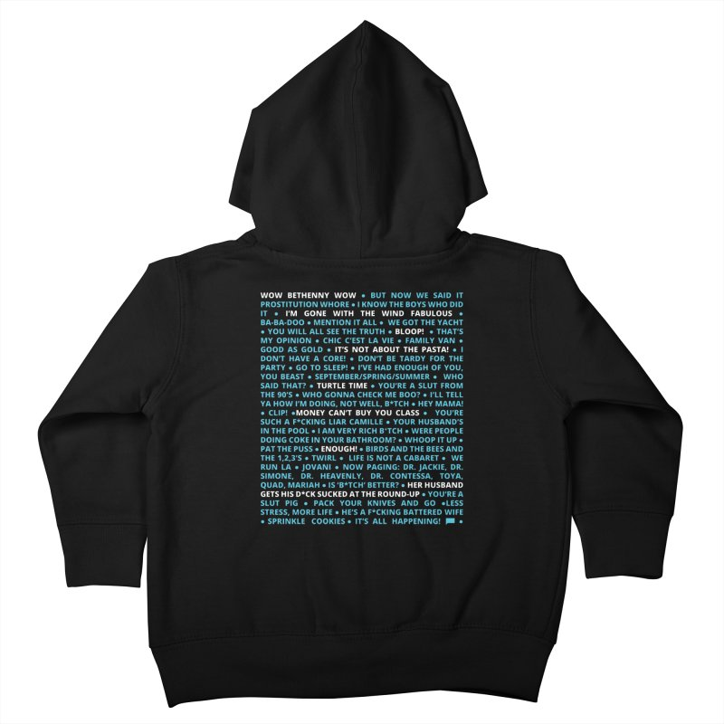 Iconic Bravo Quotes - Bravo-con: Limited Edition (on black) Kids Toddler Zip-Up Hoody by everythingiconic's Artist Shop