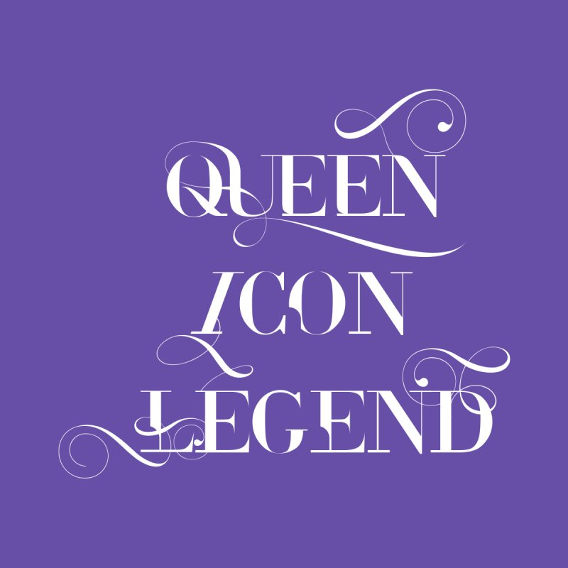 Queen Icon Legend (White on Dark) Men's T-Shirt by everythingiconic's Artist Shop