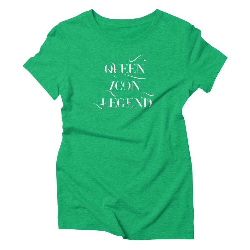 Queen Icon Legend (White on Dark) Women's Triblend T-Shirt by everythingiconic's Artist Shop