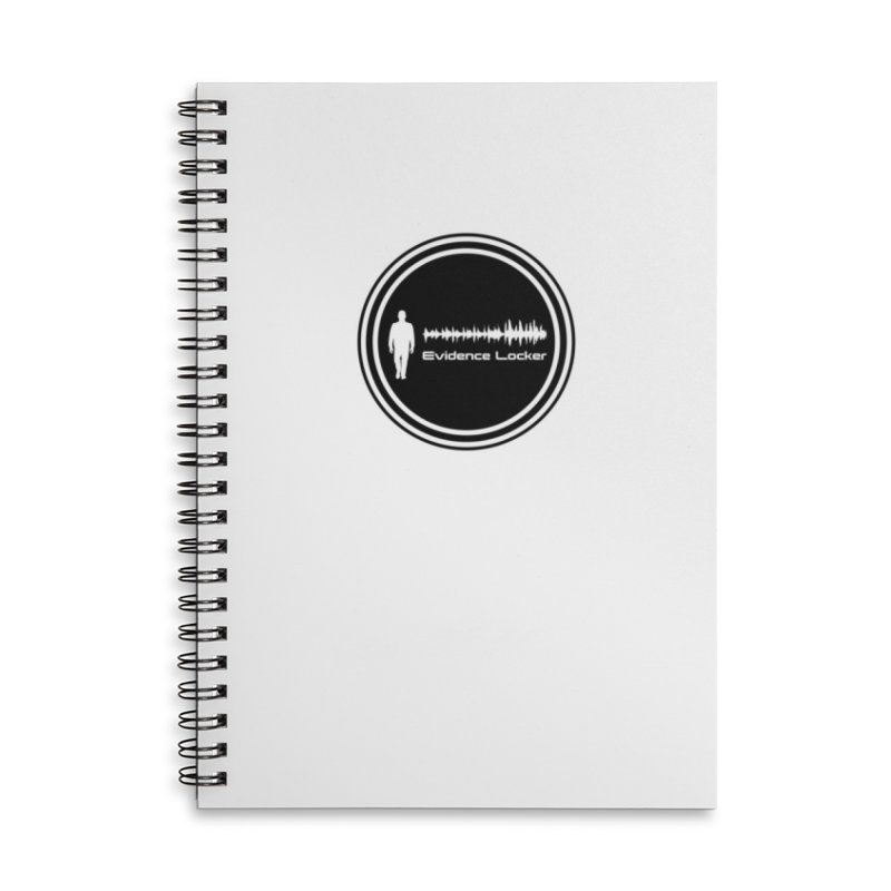 Evidence Locker Round Logo Accessories Lined Spiral Notebook by Evidence Locker Shop