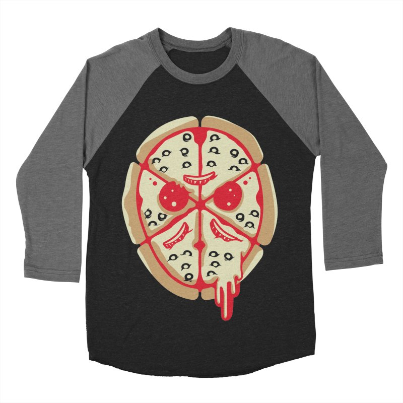 Pizza Friday Men's Baseball Triblend T-Shirt by EVILGOODS