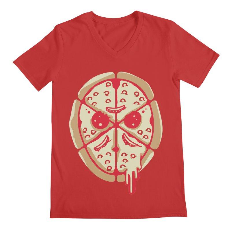Pizza Friday Men's V-Neck by EVILGOODS